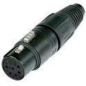 Neutrik NC6FX-BAG 6 Pin XLR Female Black/Silver