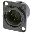 Neutrik NC7MD-L-B-1 7-Pin XLR Male Panel/Chassis Mount Connector - Black/Gold
