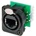 Neutrik NE8FDV-YK-B etherCON CAT5 D Series Krone Punchdown - Black