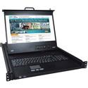 Network Technologies RACKMUX-4K17-N Rackmount 4K KVM Drawer with 4K HDMI USB 4-Port KVM Switch