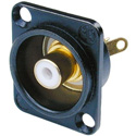 Neutrik NF2D-B-9 RCA Panel Mount Jack w/Colored Isolation Washer White