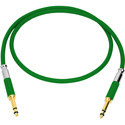 Neutrik NKTT06-GN-AU Patch Cable TT Nickel Crimp/Solder - Gold Contacts - 2 Foot (Green)