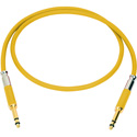 Neutrik NKTT06-YE-AU Patch Cable TT Nickel Crimp/Solder - Gold Contacts - 2 Foot (Yellow)