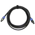 Whirlwind NL4-050 12 AWG NL4 to NL4 Speakon Speaker Cable 50 Ft