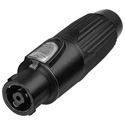 Neutrik NLT8FX-BAG 8-pole Female speakON STX Connector - Black/Chrome