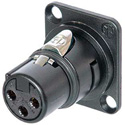 Neutrik NM3FD-B 3 Pole XLR Female D-Shaped Black Plated Module