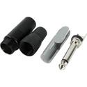 Neutrik 1/4in Mono Plug - Black & Silver - 100 Pack