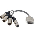 NIXER NIX00525 Breakout Cable 15pin DSUB to XLR For Balanced Connection and AES/EBU