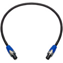 Sescom NSP2-003 Neutrik 2-Pole speakON to 2-Pole speakON Speaker Cable- 3 Foot