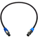 Sescom NSP4-NSP2-003 Neutrik 4-Pole speakON to 2-Pole speakON Speaker Cable- 3 Foot