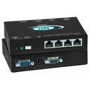 NTI VOPEX-C5VA-4C1000 VGA Splitter/Sender Unit with Audio via CAT5 to 1000 Feet -  4-Port