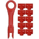 NTW NNL-PB10/1-RD net-Lock Port Blockers w/ 1 Extraction Tool (Red)