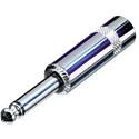 Rean NYS224 1/4 Inch Mono Phone Connector w/Long Barrel Nickel/Silver