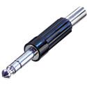 Rean NYS204 1/4in 3-Pole Plug w- Plastic Handle & Flexible Strain Relief