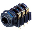 Rean NYS216G Horizontal Jack (all contacts switched) 3-Pole Plastic