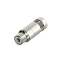 Rean NYS372P RCA Cable Phono Jack  (Nickel/Nickel)