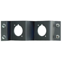Neutrik NZPFD-2 Z-Panel Frame Plate 2 D-Size opticalCON Knockouts - No Connectors