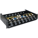 OCC RC2U88LPISP02R88A Broadcast SMPTE 8x8 Splice Enclosure with LEMO Plug and 6.35-9.65 Cable Gland