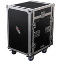 Odyssey Cases FZ1112W Combo Rackmount Case - 11U Slant - 12U Vertical with Wheels