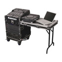 Odyssey Cases FZ1112WDLX ATA Combo Rack - 11U Slant & 12U Vertical w/Wheels