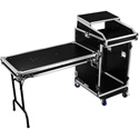 Odyssey FZGS1416WDLX Glide Style 14 Space x 16 Space Combo Rack with Wheels and 1 Side Table