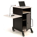 Oklahoma Sound PRC450 Jumbo Presentation Cart Plus with laptop shelf
