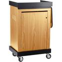 Oklahoma Sound Smart Cart Lectern SCL The Multi-Presentation Stand - Light Oak