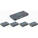 Ocean Matrix OMX-HDMICAT1X4 HDMI 18Gbps 4K@60Hz 1x4 Splitter & Cat6/6a/7 Extender with 4 Receivers - PoC/IR/EDID