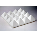 Sonex OPYR-3 Natural Grey Foam Pyramids 24 x 24 x 3 Inch Thick - 10 Pack