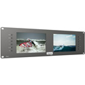 Osprey Video RM3G-2 3RU 3G-SDI / HDMI1.3 Analog Dual Rackmount Monitor with 2x 7in IPS LCDs - 640x240