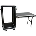 OSP SC20U-20SL 20 Space ATA Amp Rack with Casters and Attached Utility Table