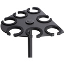 On Stage Stands MSA2700 Multi-Mic Holder - Holds up to 7 Handheld Mics - Black