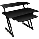 On Stage Stands WS7500B Wood Workstation - Black - Bstock (Damaged Box)