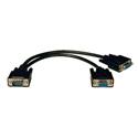 Tripplite P516-001 HD15M to 2 x HD15F VGA / XVGA Splitter Cable 1ft
