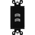 Pathway Connectivity PWWSI VPOE B2 BL Wall Station Insert Vignette Power over Ethernet Master 2-Buttons - Black