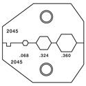 Paladin PA2045 VDV Crimper Die Set for RG6/RG6 Quad & BNC/TN Connectors