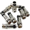 Paladin 9715 RG6/RG6Q SealTite BNC Compression Connectors 10/pk