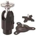 PanaVise 883-03 CCTV Dual Option - 3 Inch Rise - Knob and Set Screw ADJ - Black