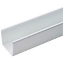Panduit FS6X4WH6NM FS Solid Wall Wiring Duct - 6 Inch W x 4 Inch H x 6 Foot Length / PVC - White - No Mounting Holes