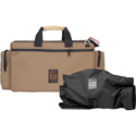PortaBrace CAR-2CAMCQS-M3 Cargo Case - Quick-Slick Rain Protection Included - Coyote Tan - Camera Edition - Medium