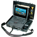 Pelican 1490CC1 Protector Laptop Case with Lid Organizer and Fitted Shock-Absorbing Tray - Black