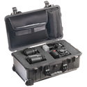 Pelican 1510LFC Protector Laptop Case with Foam and Lid Organizer - Black