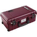 Pelican 1535TRVL-OB Wheeled Carry-On Air Case with Lid Organizer and Packing Cubes - Oxblood