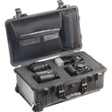 Pelican 1560LFC Protector Laptop Case with Foam and Lid Organizer - Black