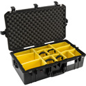 Pelican 1605WD Air Case with Padded Divider Set - Black