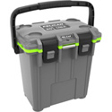 Pelican 20QT Elite Cooler with Extreme Ice Retention / Press & Pull Latches / Integrated Cup Holders - Dark Grey/Green