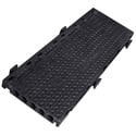 Penn-Elcom CROSS5K Cross-5 39in Long 5 channel Modular Cable Crossover Black Base ONLY with Black Lid