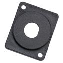 Penn-Elcom M1906 / B9 Blanking Plate Flush Fit Punched for BNC - Black - Plastic - 10 Pack