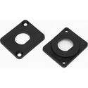 Penn-Elcom M1906 / P7 Blanking Plate Flush Fit Punched .24-inches for Phono - Black - Plastic - 10 Pack
