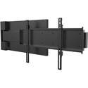 Peerless HPF665 Hospitality and Universal 90degree Swing-Out Wall Mount for 55 to 75 Inch Displays - 90lb Load Capacity